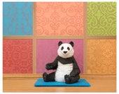 Yoga studio animal pose art print: Panda Posing