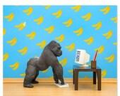 FALL SALE Gorilla animal art print: Gorilla Art