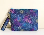 Zodiac project bag Constellation knitting bag Medium project zipper bag and wristlet