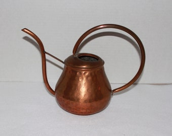 Vintage Copper Watering Can Hammered
