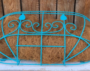 Bright Turquoise Wall Mount Flower Box UNDER 20