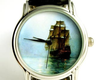 ON SALE 25% OFF Watch sailing ship wristwatch Sea ocean