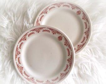 Vintage Shenango China, Ironstone Plates, Restaurant Ware Dishes, Set of Two, Modern Farmhouse Chic