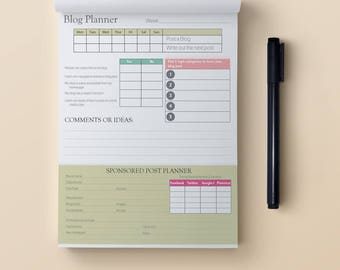 Blogger Planner Print out