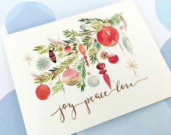 Christmas Card, Holiday Cards, Christmas Card Set, Set of 10 cards