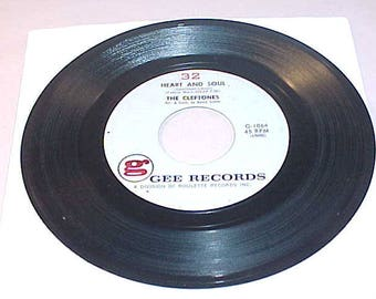 The Cleftones 45 Vinyl Record - Heart And Soul / How Do You Feel