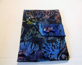 Blue Tropical Fish Batik Kindle Touch/ Nook Simple Touch/Paperwhite  Cover