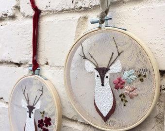 Deer Hoop Wall Hanging