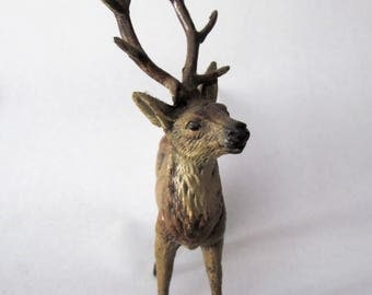 Vintage Metal Stag Deer Figure