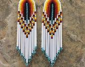 Native American style beaded earrings ORIGINAL DESIGNER