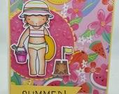 Summer MFT Pure innoncence PI Blank NoteCard, Greetings Card, Handmade Card