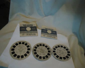 Lot Of 3 Sawyers View Master Reels Hopalong Cassidy Roy Rogers Gene Autry, collectable