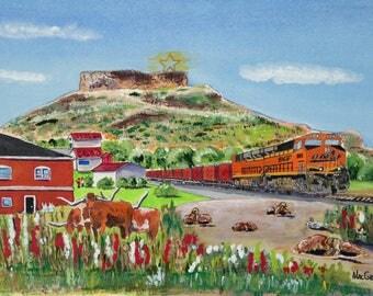 Welcome to Castle Rock Colorado Art Print