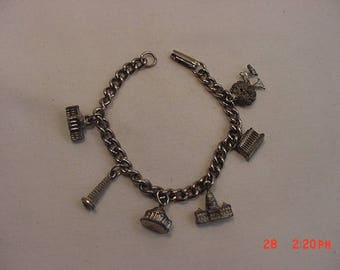 Vintage District Of Columbia Washington D.C. Souvenir Charm Bracelet  18 - 220