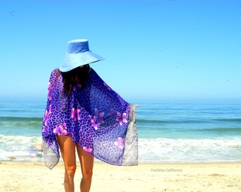 Beach Cover Up Spa coverup Swim Cover Up Poncho dress Swimsuit cover up Ethereal Sheer Clothing  by Freckles California