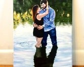 Custom painting from photo, Custom portrait, Custom art, Original painting, Acrylic painting, Personalized gift,