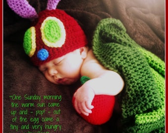Caterpillar Cocoon and Hat