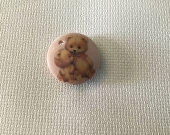 Pink Teddy Bears Needle Minder Needle Nanny