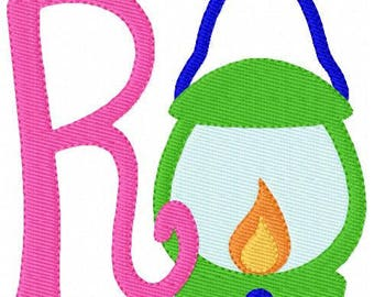 Camping // Lantern // Campout // Monogram Embroidery Font Design Set // Camping Embroidery Design // Joyful Stitches