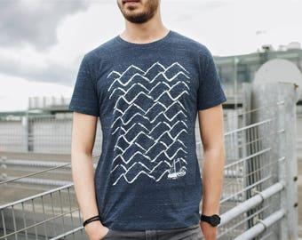 Ahoi 3.0 Men T-Shirt Organic & Fair Wear _dark blue melange