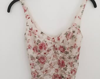 Floral Lace Camisole XS