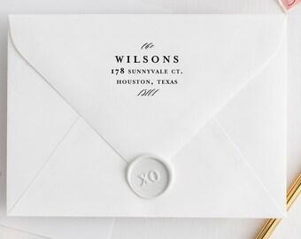 Return Address Stamp, Script Address Stamp, Personalized Address Stamp, Wedding Stamp, Custom Address Stamp, Modern Stamp, Calligraphy
