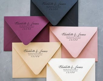 Calligraphy Return Address Stamp, Calligraphy Address Stamp, Personalized Address Stamp, Wedding Stamp, Custom Address Stamp, Wedding Gift