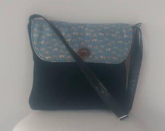 Handbag: Black Suede