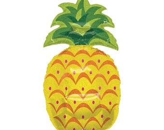 """Pineapple Party Decorations - Pineapple Party Balloon - Pineapple Birthday Party - 37"""" Holographic Pineapple Balloon - Pineapple Decorations"""