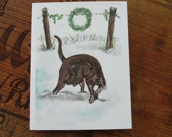 Hound in the Snow Christmas Card