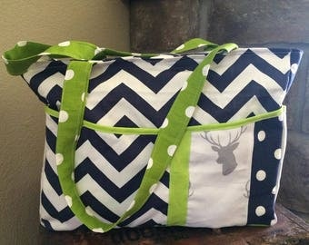 Beautiful Nice Soft Diaper Bag buck Deer Head Little Man Boy Navy Blue Chevron Lime Green Gray Camouflage Advantage Max 4 HD Roomy Pockets