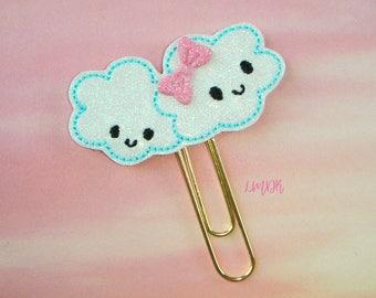 Cloud Cuties Glitter Paperclip Planner Clip