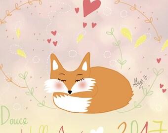 Greeting card / illustration * Fox * printable