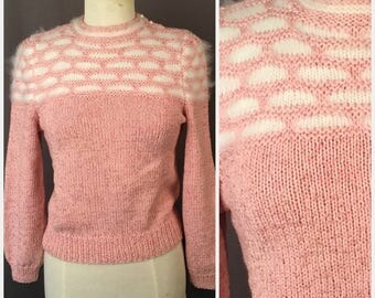 Pink cotton pullover | Etsy