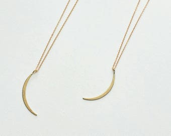 Dainty crescent moon choker necklaces