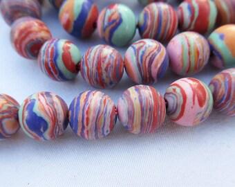 Red Malachite Beads 8mm Round Malachite Bead Strand g002