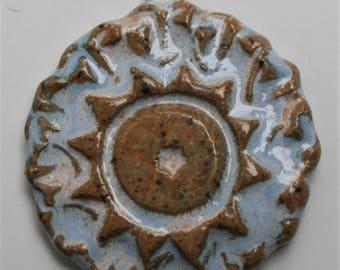 Handcrafted Blue Sun Ceramic Pendant PEN190814