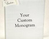 Custom Monogram Guest Book - Engagement Journal - Custom Guestbook - Ivory Silk Wedding Book - Wedding Photo Album - Custom