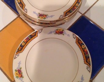 Beautiful 22k gold warranted saucers  (6)