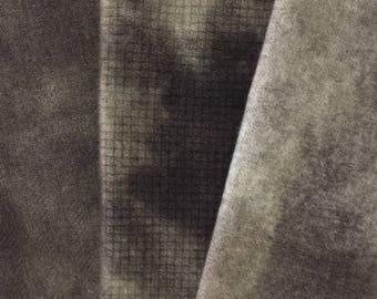 Vintage Green - hand dyed rug hooking wool fabric -  3/8 yard Bundle Pack
