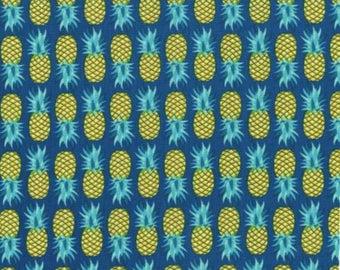 NEW Michael Miller Cuban Beat Ocean Pineapple fabric - 1 yard