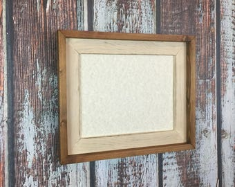 5 x 7 Stacked And Stained Picture Frame, Cream Rustic Weathered, Rustic Home Decor, Wooden Frame, Home Decor, Rustic Wood Frames, Rustic