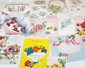 24 Vintage Greeting Cards Mixed Florals 1940s 1950s Signed Unsigned