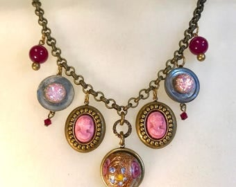 Vintage Charms & Cameos Necklace