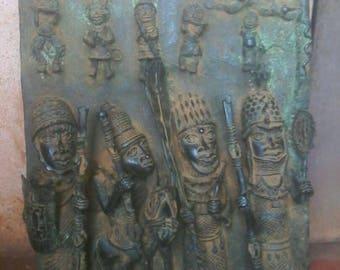 Bronze Benin Plaque