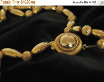 15 % off Vintage 40s MINT  Gold Deco Bead Necklace