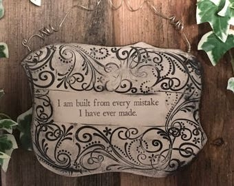 Handmade Inspirational Quote Ceramic Plaque