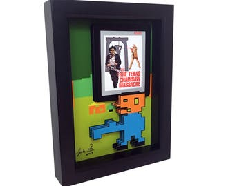 Atari 2600 Game Art Leatherface Art Texas Chainsaw Massacre Art Video Game Art Video Game Print 3D Art Horror Print Atari Game Horror Poster