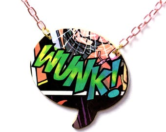 Wunk! Speech Bubble Necklace