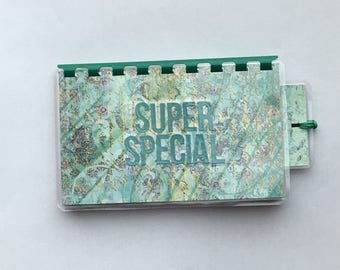 Handmade Teal Green 'Super Special' Blank Recipe book for Personal Recipes